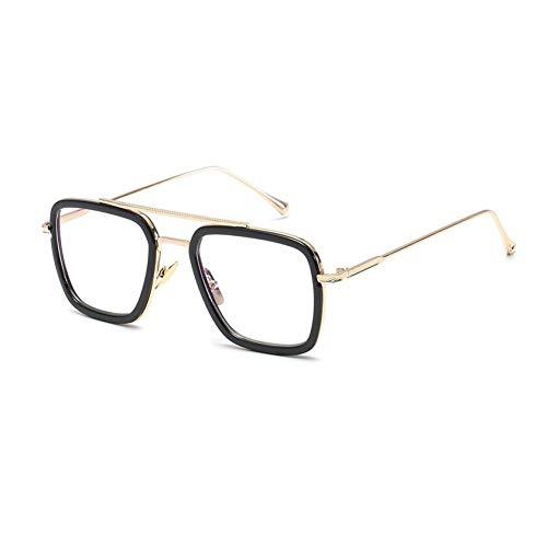 CHENG/ CHENG Männliche Steampunk Sonnenbrille Retro Vintage Eyewear Square Sonnenbrille