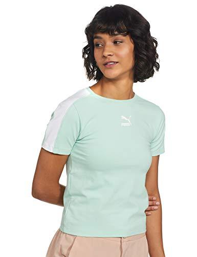 Puma Women's Regular T-Shirt (59537532_M_Green_Mist