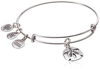Alex and Ani Sand Dollar III Rafaelian Silver Bangle Bracelet