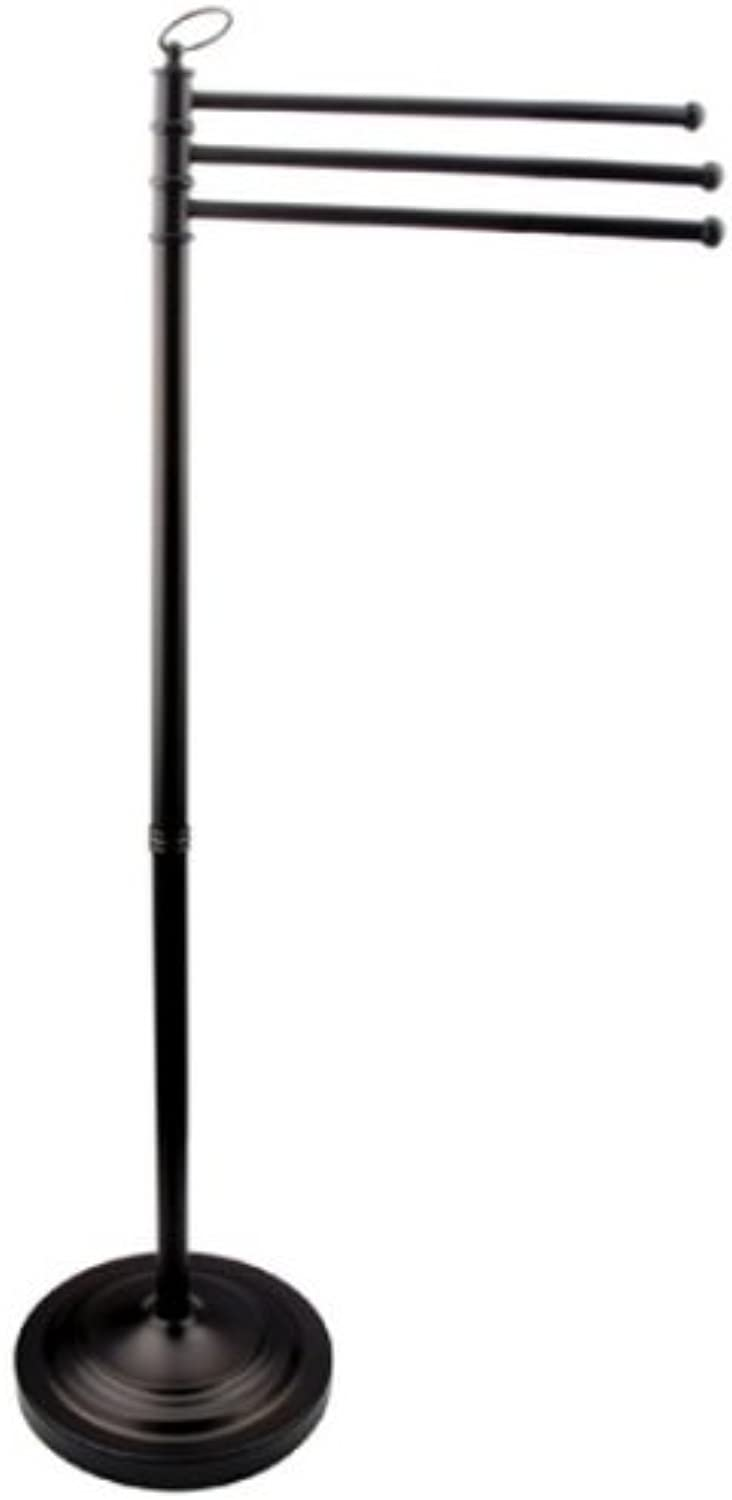 Kingston Brass CC2025 Pedestal Towel Bar In Three Level Height with White Box, Oil Rubbed Bronze