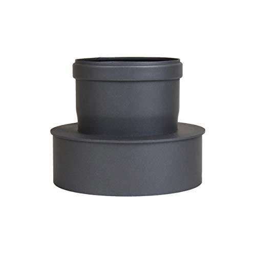 LANZZZAS Pellet pellet rookpijp pelletkachel uitbreiding staal blank ongelakt Ø 100 mm op Ø 150 mm