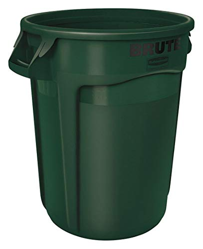 Rubbermaid Commercial FG263200DGRN Products Brute Trash Can, Green, 32 gal Capacity