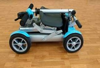 EV Rider Gypsy Ultralight (Weighs only 37Lbs) Collapsible 4-Wheel Mobility Scooter - Ocean Blue