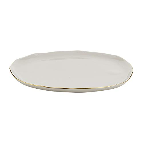 SB Design Studio Table Sugar Collection Ceramic Dinner Plate, Large, Grey