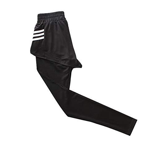 Leggings de Cintura elástica para Mujer Primavera y otoño Moda de Cintura Alta Yoga Falso Falda Deportiva de Dos Piezas Falda