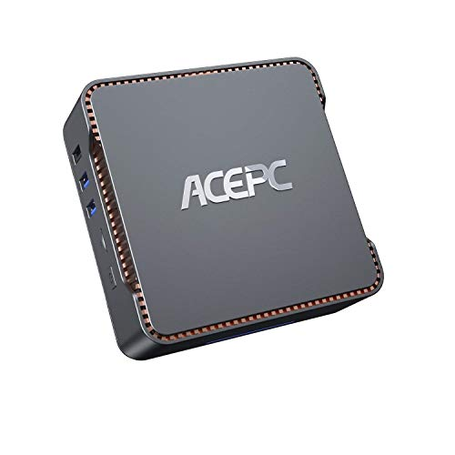 ACEPC Mini PC,6GB RAM+128GB ROM,Intel Celeron J4125,Windows 10 Pro(64-bit),Dual WiFi 2.4/5G, Bluetooth 4.2,4K HD,2 HDMI+1 VGA/USB3.0 Port,Mini Ordenador de sobremesa