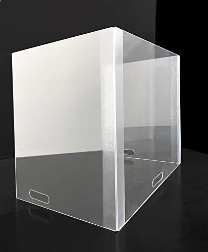 Mampara de protección transportable de fácil montaje. Para mesas, pupitres, oficinas, colegios, institutos, academias… (66x50x45): Amazon.es: Oficina y papelería