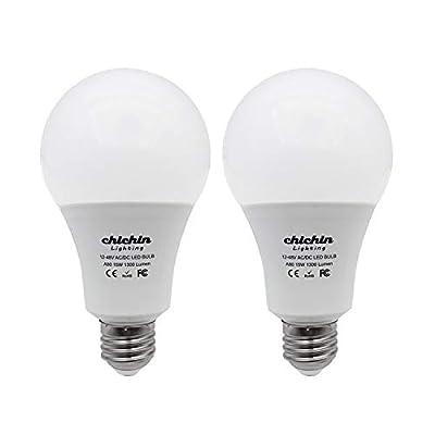 ChiChinLighting 12 Volt 7 Watt LED Light Bulb (3, 4 or 6 Pack) - E26/E27 Light Bulb 12v Low Voltage - Off Grid Solar System, RV, Marine LED Lights