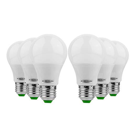 ZXJUAN E26 / E27 LED gloeilamp 5W vervanging 45W halogeenlamp 5730 SMD energiebesparend daglicht voor keuken en woonkamer restaurants en horeca kantoorverlichting (6-pack) reservelamp