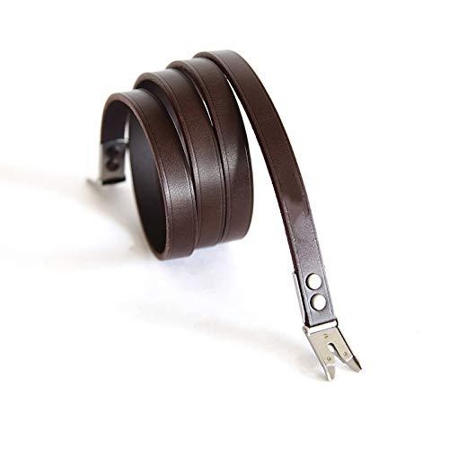 KDOAE Correa de la Camara Correa de cámara Rolleiflex Special Strap Strap Cuero SLR Digital Correa de Hombro Antideslizante (Color : Brown, Size : 96x1.1cm)