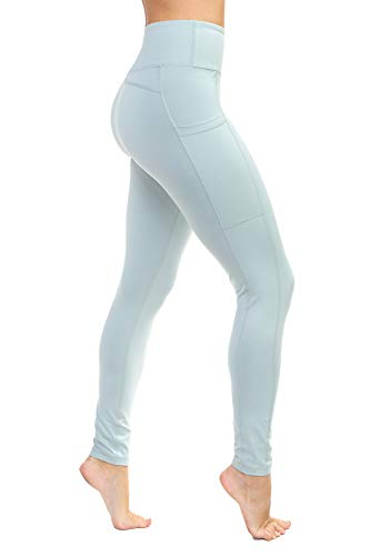 Aekonami AEKO Fitness Yoga Pants Buttery Soft Workout Gym Leggings with Pockets for Women (S, Mint)
