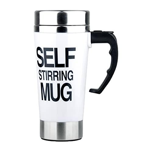 Picapoo Tazas de mezcla eléctrica Lazy automática auto agitación café y leche taza de viaje, taza de café reutilizable taza de café de metal