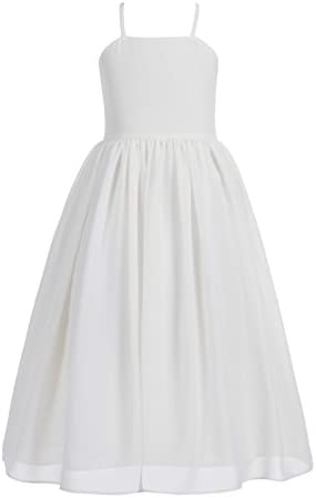 Criss Cross Chiffon Formal Flower Girl Dresses Junior Bridesmaid Dress 191 6 Ivory product image