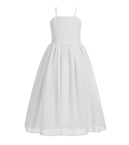 Criss Cross Chiffon Formal Flower Girl Dresses Junior Bridesmaid Dress 191 6 Ivory