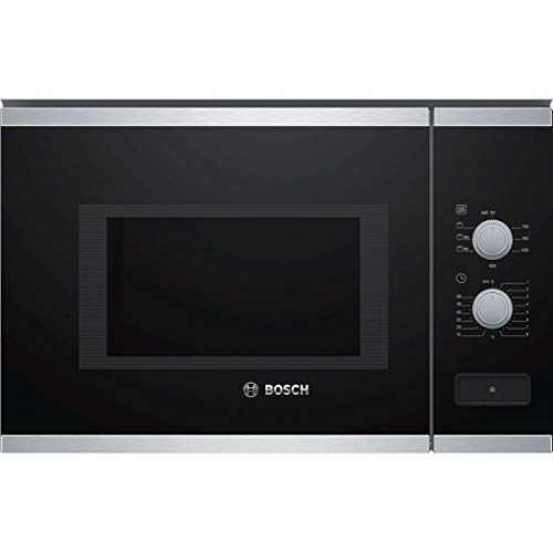 Micro ondes Grill Encastrable Bosch BEL550MS0 - Micro-Ondes + Grill Integrable Noir et inox - 25 litres - 900 W