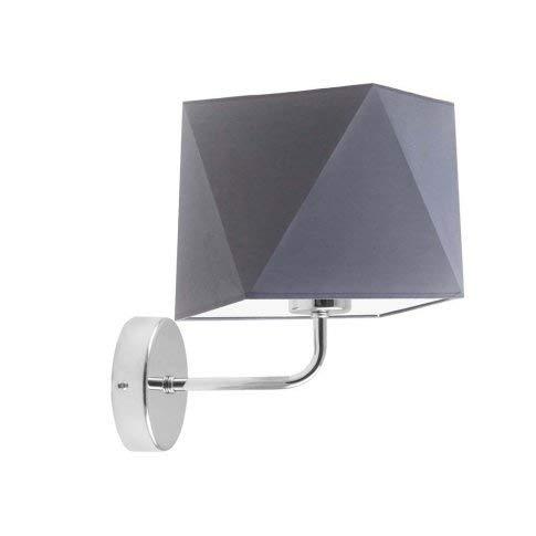 Lámpara de pared TURYN pantalla gris acero marco cromo