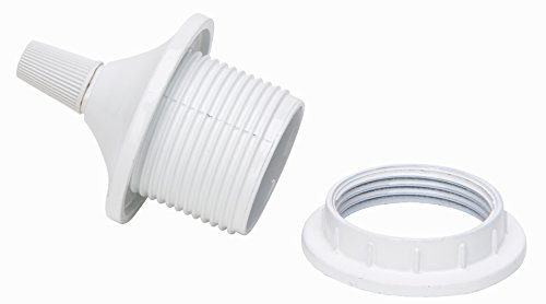 Kopp aislante plástico de casquillo E27con tapa, color blanco, 214401048