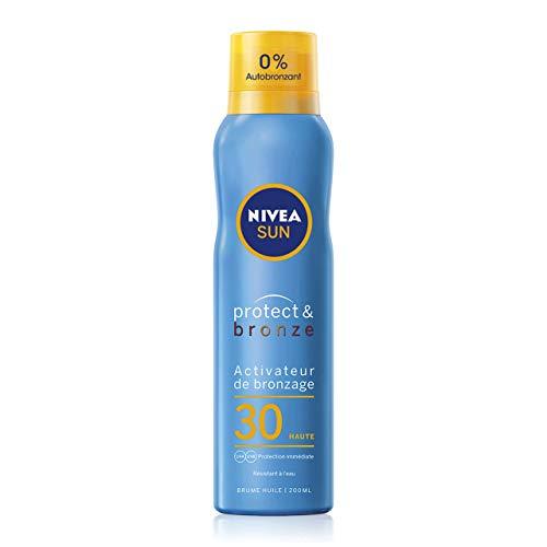 Nivea Sun Tan Activator Oil Mist Protect & Bronze SPF 30 (1 x 200 ml), Spray Mist with UVA/UVB Sun Protection, Natural and Uniform Tan Mist