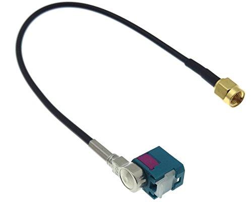 Adaptateur d'antenne Fakra Adaptateur coudé vers F vers SMA M prise câble GSM GPS DAB +