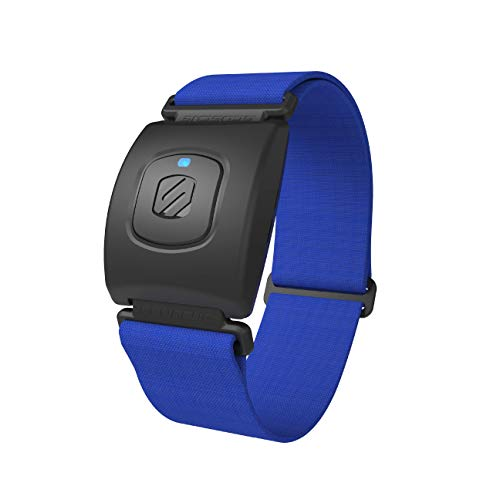 Rhythm+2.0 Waterproof Heart Rate Monitor Armband - Optical Heart Rate Armband Monitor with Dual Band Radio Ant+ and Bluetooth Smart - Blue