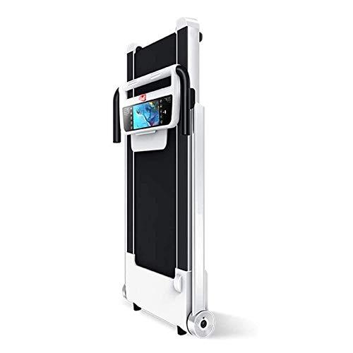 Cinta de correr, cinta rodante plegable, cinta de correr de escritorio Pequeña cinta de correr eléctrica de panel plano, pantalla grande de alta definición, monitoreo de frecuencia cardíaca en tiempo