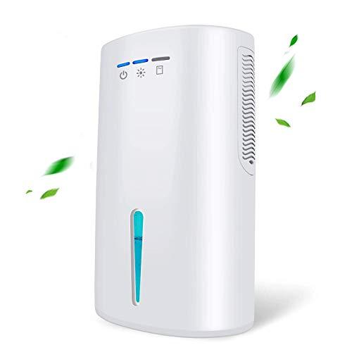 LTLWSH Deshumidificador Electrico, 2000ml Antihumedad de Aire Silenciosos Portátiles con Funciones Inteligentes para El Casa, Armarios, la Habitación, Garajes, para Eliminar la Humedad