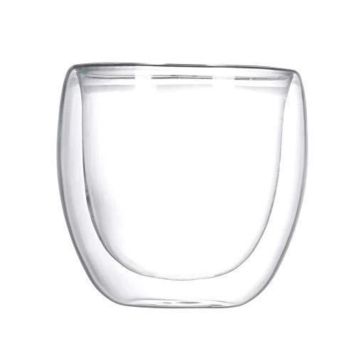 Wärme-beständig Doppel Wand Glas Tasse mit bambus Deckel Bier Espresso Kaffee Tasse Set Handgemachte Becher Tee Milch Whisky tassen Drink