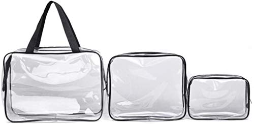 Bvcahosg Clear Toiletries Bag, Portable Clear Travel Cosmetic Make Up Bag Transparent,S