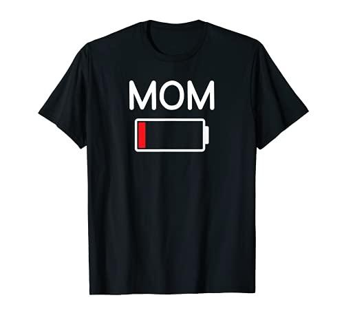 Mamá Batería Baja, Gracioso, Chistes, Refranes sarcásticos Camiseta