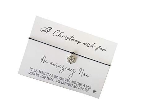 Dios Designs Xmas Simple Wish Bracelet - A Christmas Wish for an Amazing Nan DD951