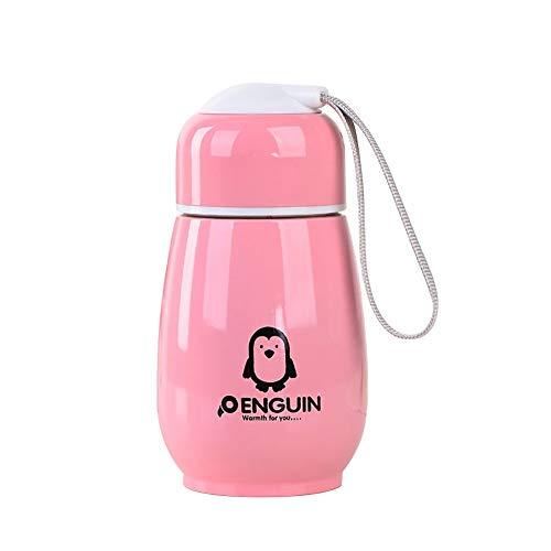 ZqiroLt - Botella de Agua con diseño de pingüino, 300 ml, Rosa