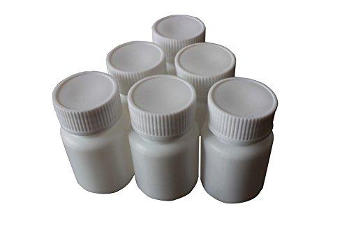50 uds. de botes de medicina, para pastillas, de plástico, vacías, de color blanco