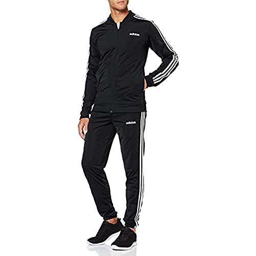 adidas Essentials 3-Stripes Track Suit Chándal, Hombre, Negro (Black/Black/White), XS