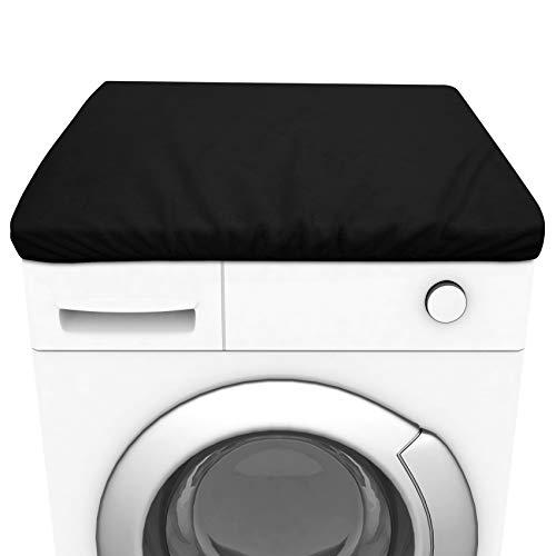 JMITHA Staubschutz Kühlschrank Waschmaschine Trockner Baumwolle Waschmaschinenbezug Abdeckung Waschmaschinenschutz Trocknerbezug Baumwolle Schonbezug (Schwarz, 60 x 55 x 4 cm)