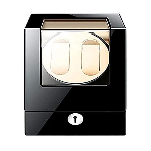 ZCYXQR Caja enrolladora de Reloj para 2 Relojes Adaptador Exterior de Pintura de Piano de Madera y Motor a Pilas (Caja de presentación de Reloj)