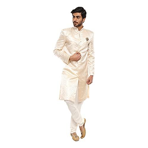 VMart Men Solid Mandarin Collar Regular Fit Sherwani 429969
