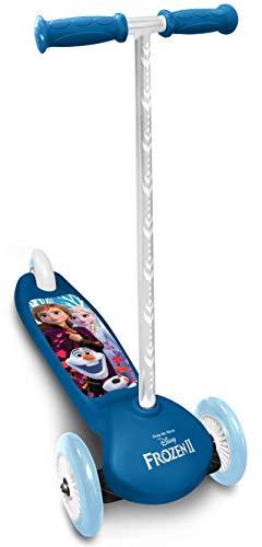 Stamp- Monopattino Steering Frozen II 3 Ruote Frozen Anna, Elsa a Balancer, RN244045, Blu