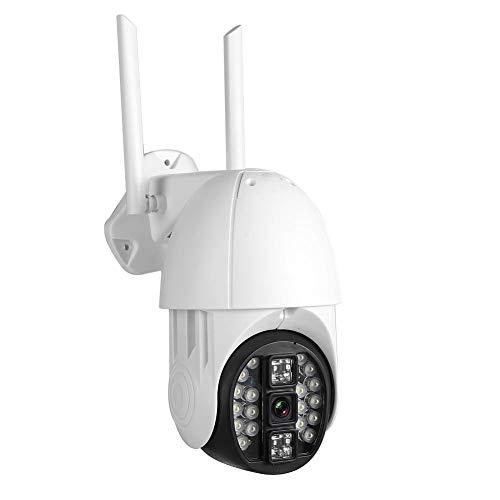 Asixxsix Cámara PTZ, cámara WiFi Impermeable, cámara Domo, para Exteriores en casa(European regulations)