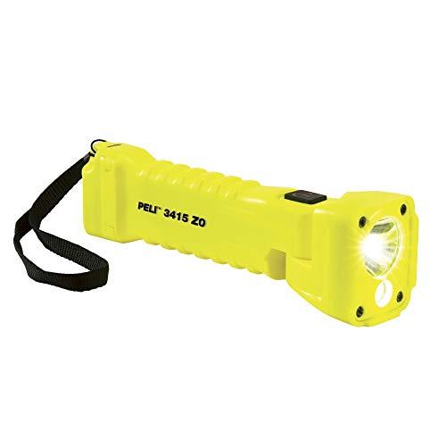 Peli Light Linterna LED 3415, ATEX Zone 0, amarillo, 329 lúmenes, protección contra bomberos, lámpara de uso industrial