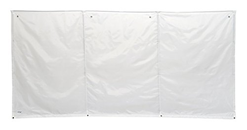 WallUp! The Instant Outdoor, Weather-Resistant, Durable, UV-Treated Flag Cloth Privacy Screen, Divider, Enclosure, Shelter, 6-feet High by 12-feet Wide, White