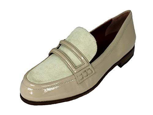 Marc Jacobs Damen Schuhe Shoe Slipper Loafers 625142 Beige EUR 40