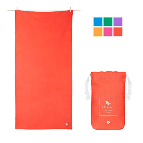 Dock & Bay Compact Gym Towel for Sports - Aurora Red, 100 x 50cm - Gym, Hike & Sports - Premium Quick Drying Towels for Swim & Beach