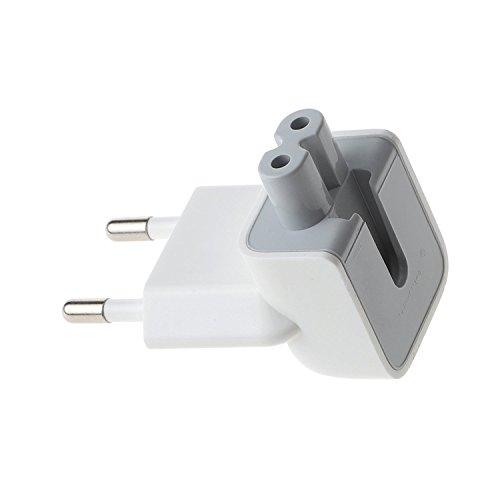 Beyee AC Adapter Europe Plug Convertidor de cargador de viaje, Conector de repuesto para iPod, iPhone, tabletas iPad, adaptador de alimentación de AC Macbook (1xEU Plug)