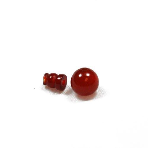 1x Rojo Cornalina 10mm Mala Guru Bead Set–(gs13226–2)–Charming Beads