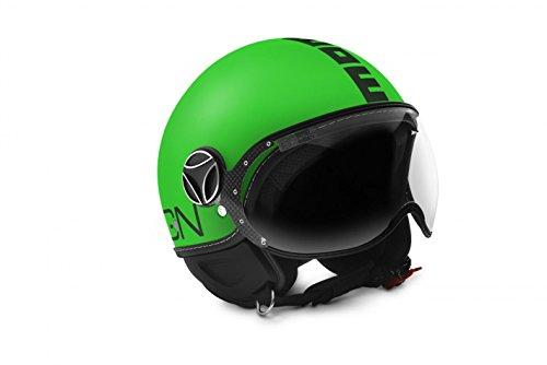 MOMO Design Momodesign casco jet fgtr, verde neón mate Logo negro, talla M