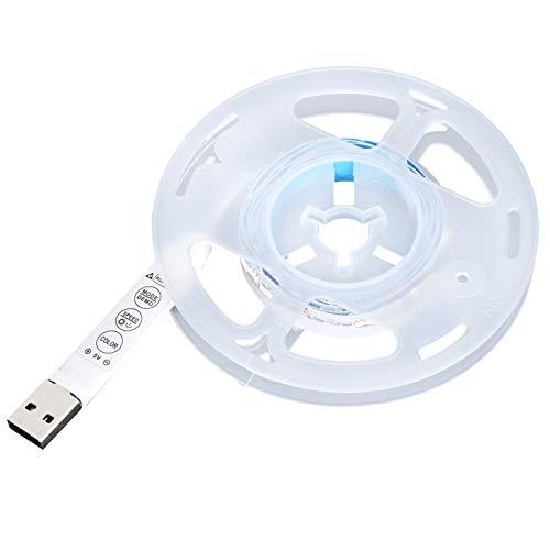 Tira de luces LED, tira de luz Mini tira de luz Alta iluminación Uniforme Luminescenc Fuente de alimentación USB Luces de fondo de TV para decoración del hogar