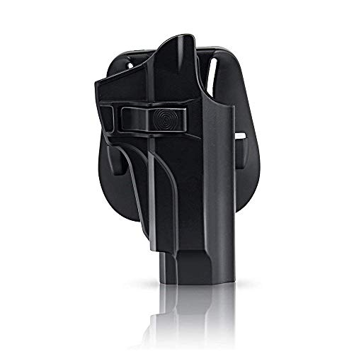 efluky Holster Pistola Molle Pistolera Airsoft Gun Holster para Beretta 92fs, 92FS INOX, M9, Chiappa M9, M9_22, Paddle 60°Adjustable