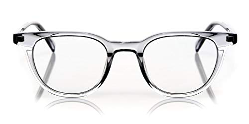 eyebobs Eleanor Premium Women's Reading Glasses, Grey Crystal Front and Temples, 2.00 Magnification