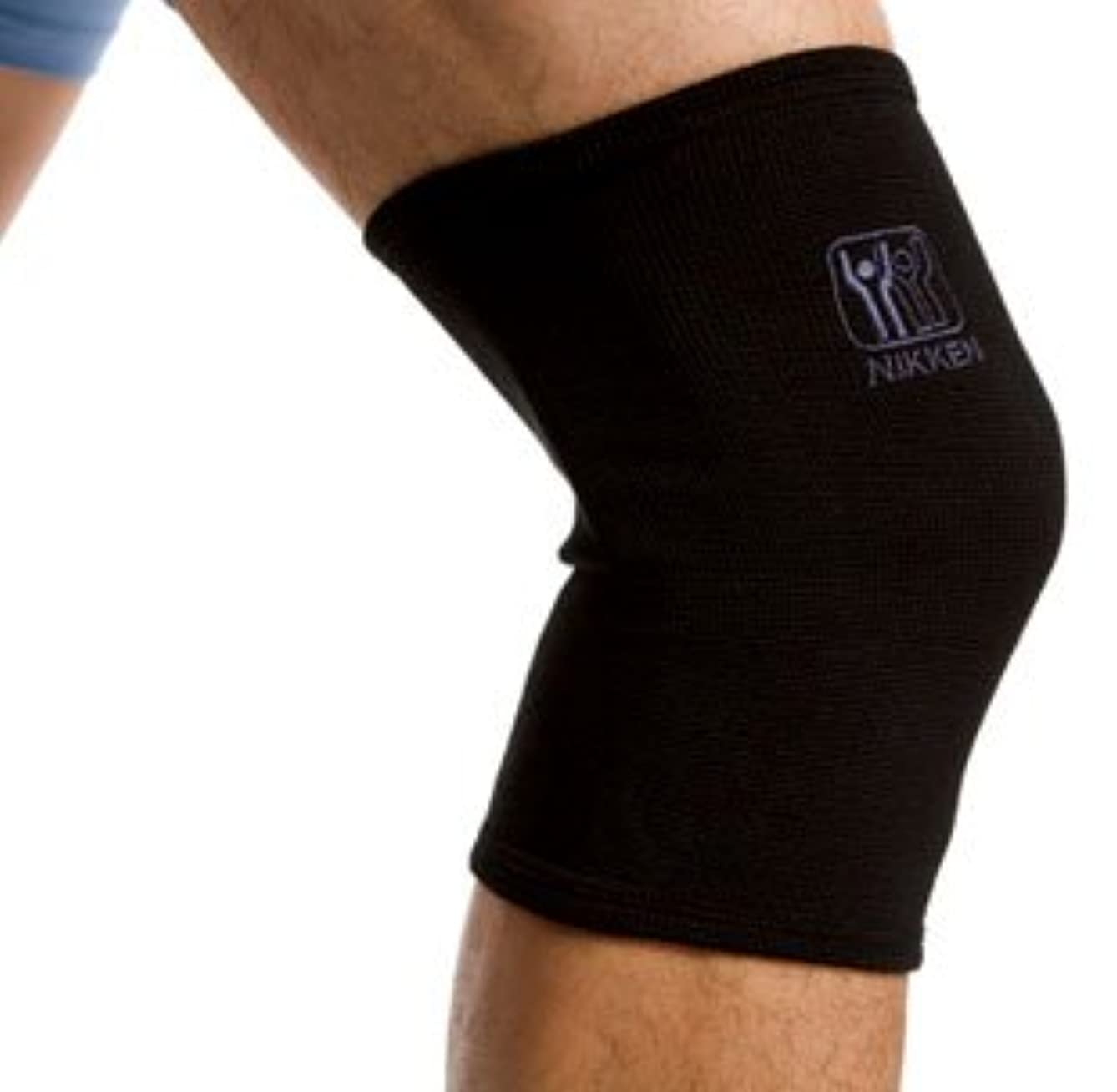 Nikken 1 Large Knee Sleeve 1834 – Black, Thin Stretchy Support, Men Women, Far Infrared, Compression, Brace, Arthritis ACL Meniscus Pain Relief & Recovery, Running Weightlifting Basketball