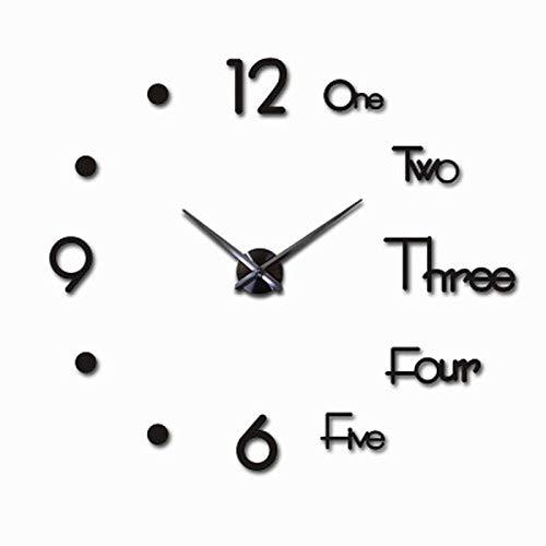 Wanduhr 37, 47 Inch Wall Clock Modern Design Quartz Clock Fashion Watch Mirror Living Room Decoration 3D DIY Large Wall Clock 37inch 2